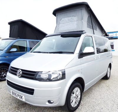 VW (Volkswagen) VW Transporter Highline 102ps Pop-Top Camper Campervan, (2015)  Campervans for sale in South West