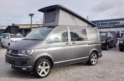 VW (Volkswagen) Transporter T6 102 ps Pop top Conversion, (2017)  Campervans for sale in South West